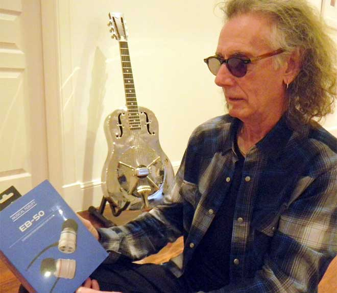 Thin Lizzy Guitarist Dave Flett Using EB-50 Headphones