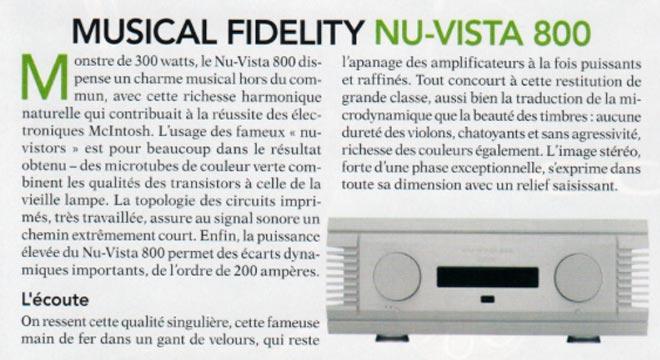 Nu-Vista 800 Awarded the Diapason d'Or