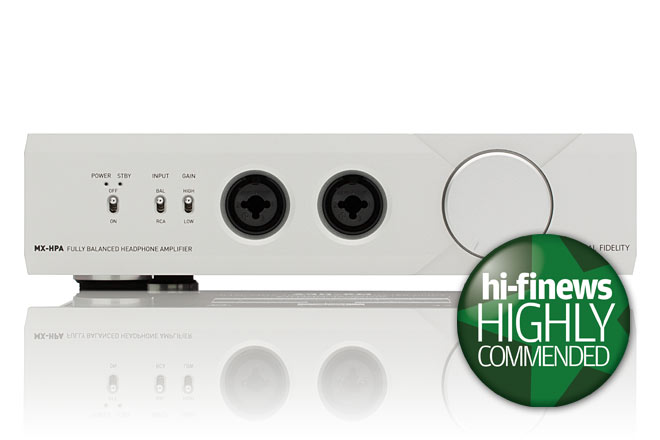 Hi-Fi News Review of MX-HPA -  'Highly Commended'