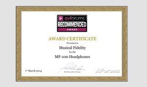 MF-100 Award Image