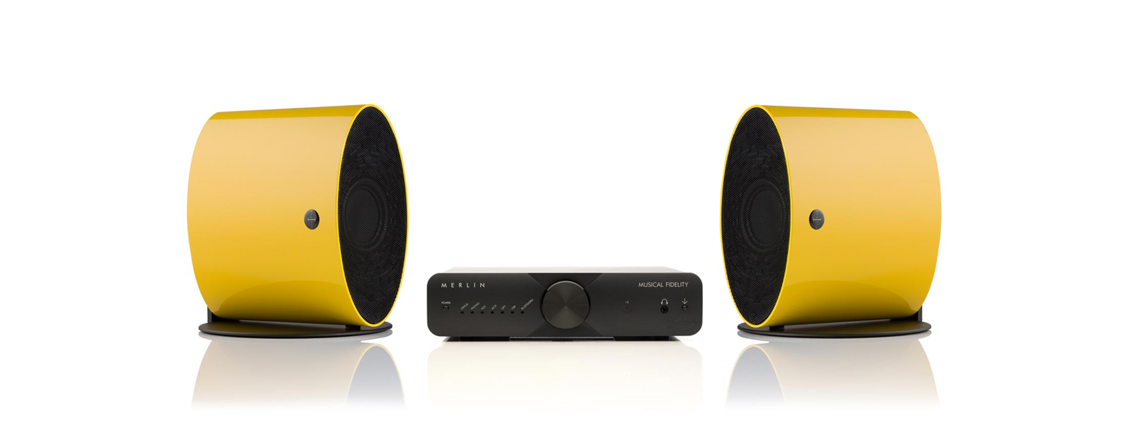 Merlin Yellow Loudspeakers by Musical Fidelity