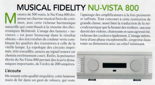 Nu-Vista 800 Awarded the Diapason d'Or