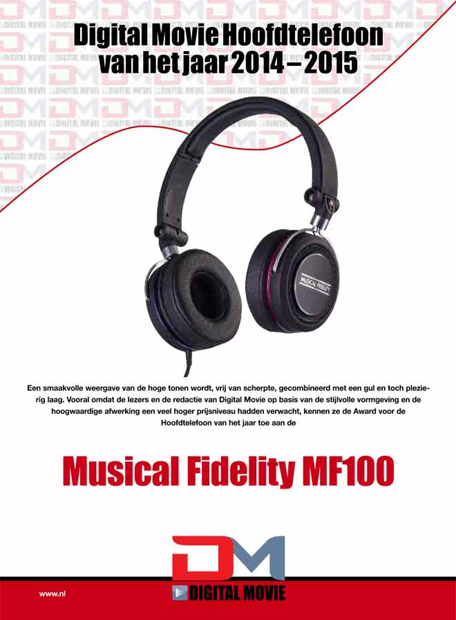 MF-100 Wins Headphone of the Year