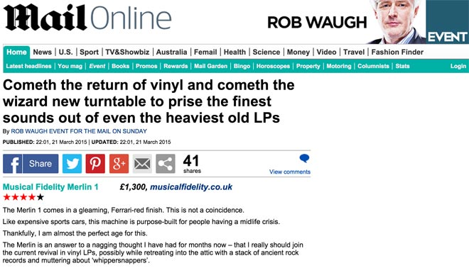 Image for The Merlin 'sounds as good as it looks' says the Daily Mail